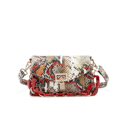 BFONDA ORANGE SNAKE CROSSBODY