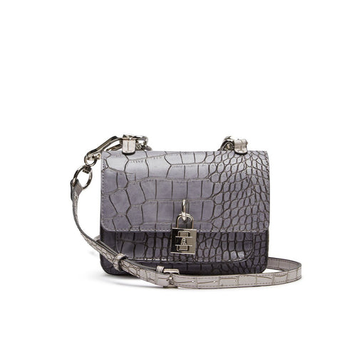 BJAZ GREY CROCO CROSSBODY