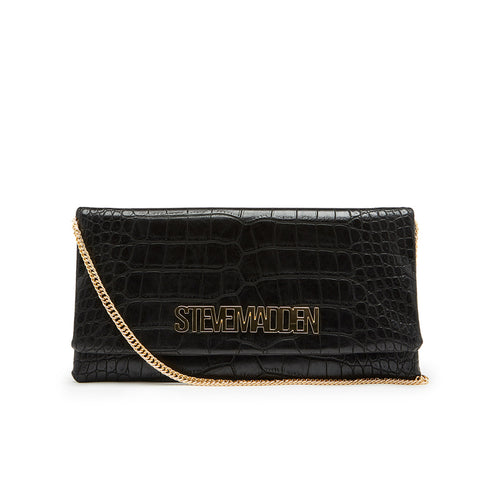 BROSY BLACK CROCO CROSSBODY