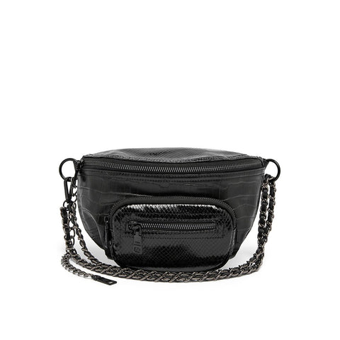 BSUBMIT BLACK CROCO CROSSBODY