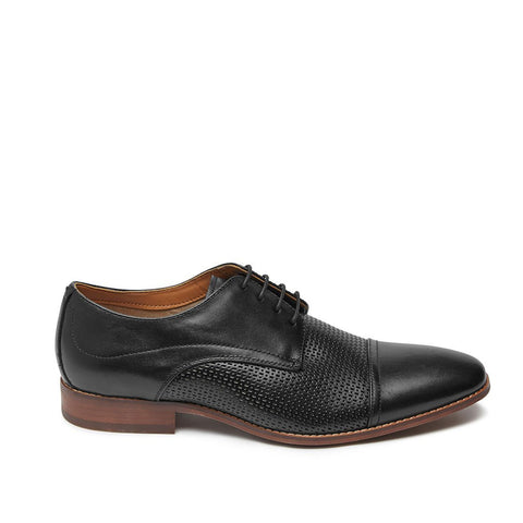DECKLAN BLACK LEATHER