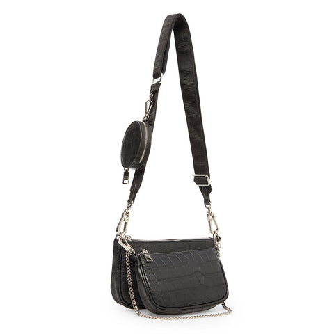BURGENT BLACK MULTI CROSSBODY