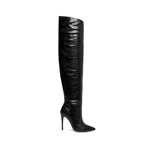 W-HARLOW BLACK CROCO