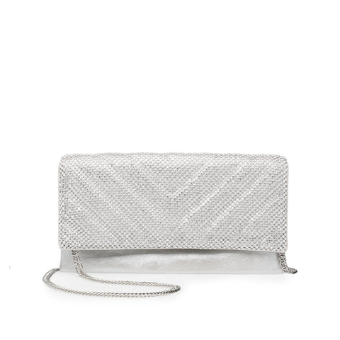 BHOOKUP SILVER CLUTCH