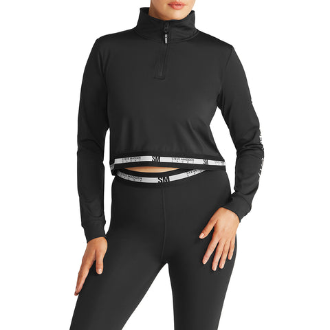 IWARM HALF ZIP BLACK