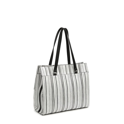 CHLOE Large Box Tote Stripe