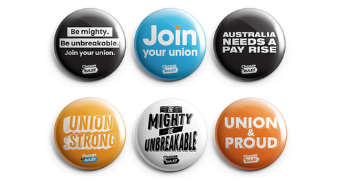 Change the Rules mini badges x6 Pack