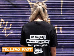 Be mighty and Change the Rules UNISEX t-shirt BLACK