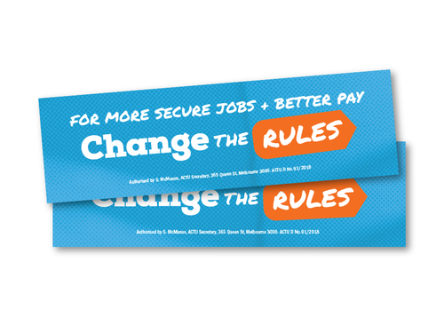 Change the Rules Bumper Sticker - 2 pack