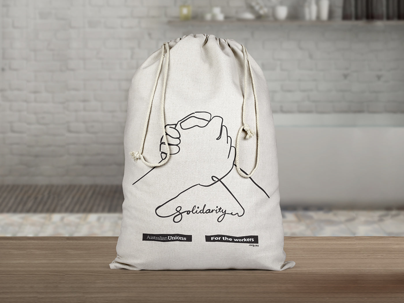 For The Workers Laundry Bag