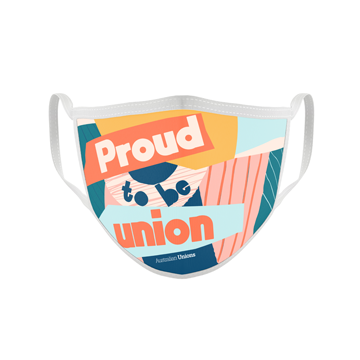 Proud To Be Union Face Mask (Pink)