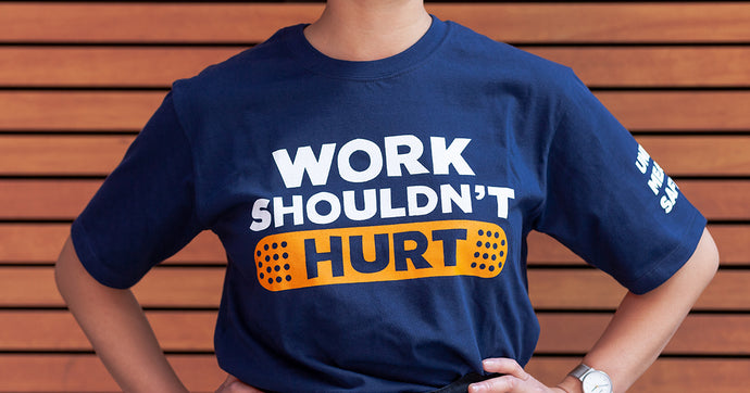 Work Shouldn't Hurt UNISEX T NAVY
