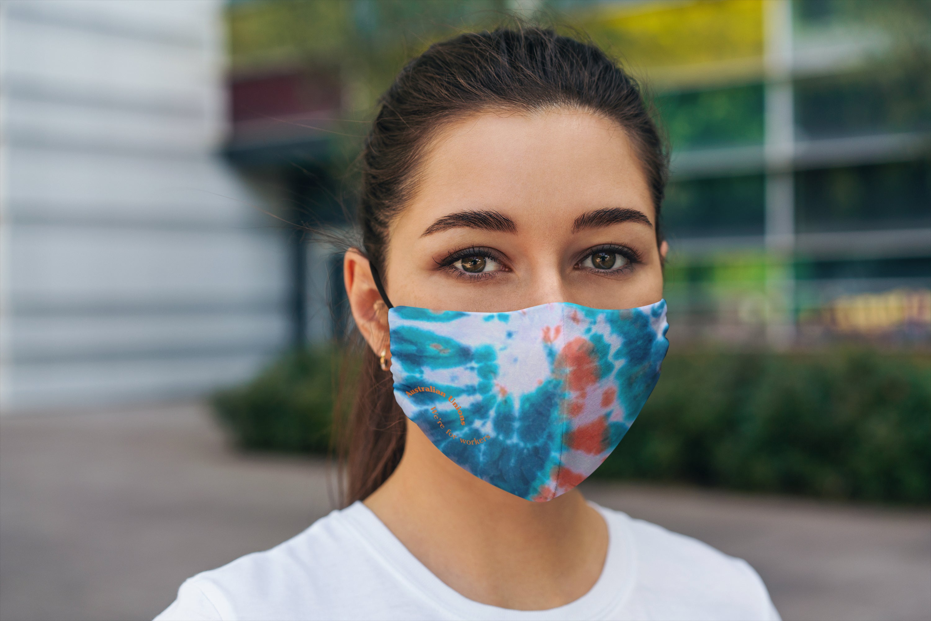 PRE ORDER: LIMITED EDITION Tie-Dyed 'We're For Workers' Face Mask