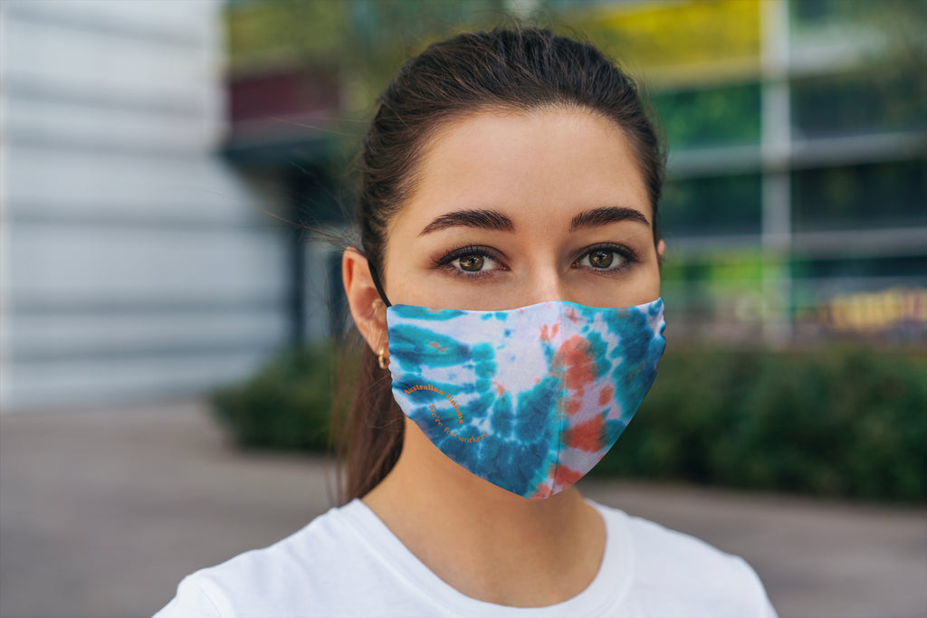 LIMITED EDITION Tie-Dyed 'We're For Workers' Face Mask