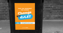 Change the Rules A4 Bin Sticker x2 Pack