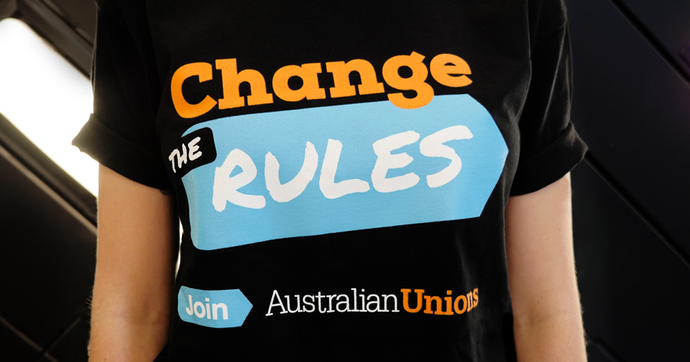 Change the Rules UNISEX T BLACK