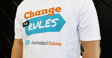 Change the Rules UNISEX T WHITE