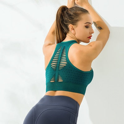 Push Up Yoga Seamless Bra