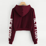 Fitness Hoodies Crop Top
