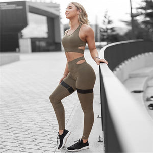 Yoga Set Women Sport Suit Gym