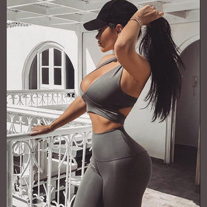 Fitness Leggings Two Piece Set