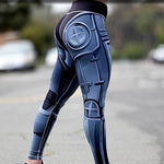 Steel Robot Digital Print leggings