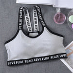 Sport Cropped Top Bra Push Up Running