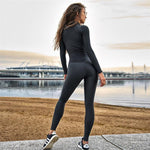 Black Fitness Jumpsuit Sports