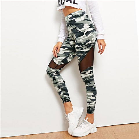 Sporty Camouflage Leggings