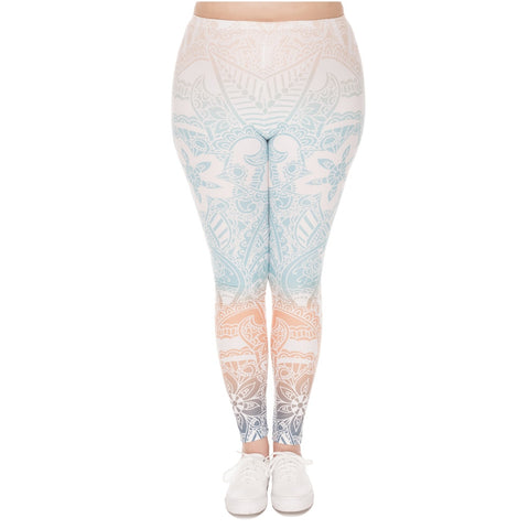 Mandala Mint Printed Leggings