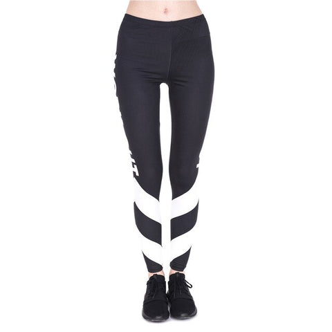 Work Out White Arrows Leggings