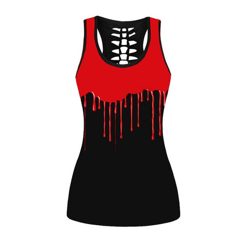 Red Blood Fit Tank Top