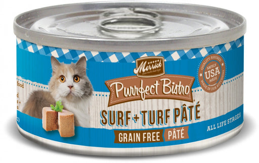 Merrick Purrfect Bistro Surf and Turf Grain Free Canned Food for Cats and Kittens