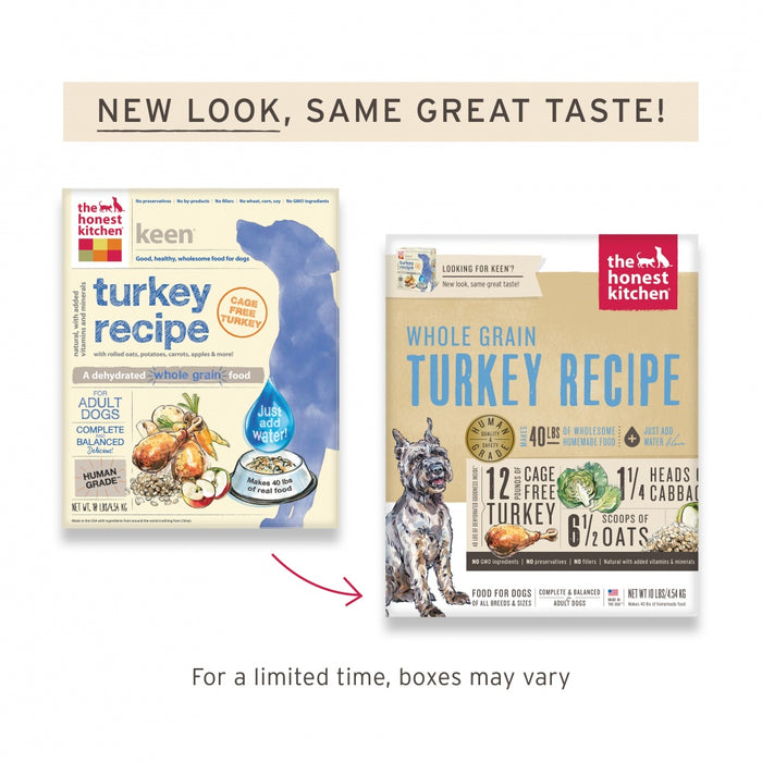 The Honest Kitchen Whole Grain Turkey Recipe Dehydrated Dog Food