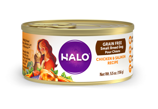 Halo Small Breed Grain Free Chicken & Salmon Recipe Canned Dog Food