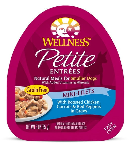 Wellness Petite Entrees Mini-Filets Grain Free Natural Roasted Chicken Recipe Wet Dog Food