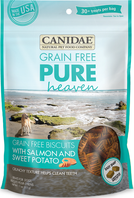 Canidae Grain Free PURE Heaven Biscuits with Salmon and Sweet Potato Dog Treats