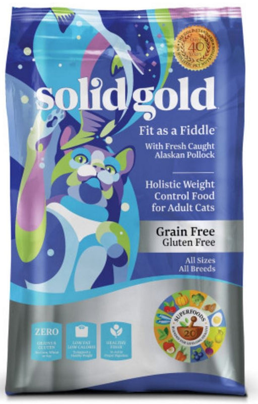 Solid Gold Fit as a Fiddle Grain Free Adult Alaskan Pollock Recipe Dry Cat Food