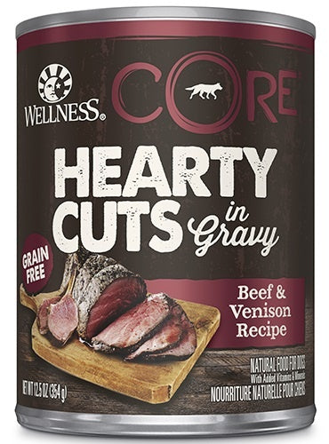 Wellness CORE Natural Grain Free Hearty Cuts Beef and Venison Canned Dog Food