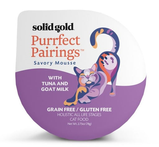 Solid Gold Grain Free Purrfect Pairings Tuna Savory Mousse Cat Food Tray