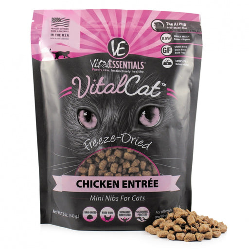 Vital Essentials Freeze Dried Grain Free Chicken Mini Nibs Entree for Cats Food