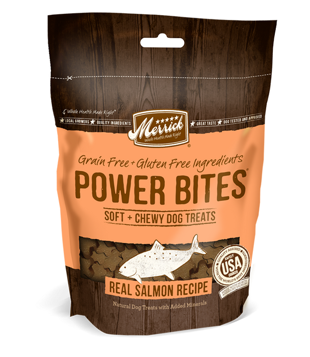 Merrick Power Bites Grain Free Salmon Dog Treats