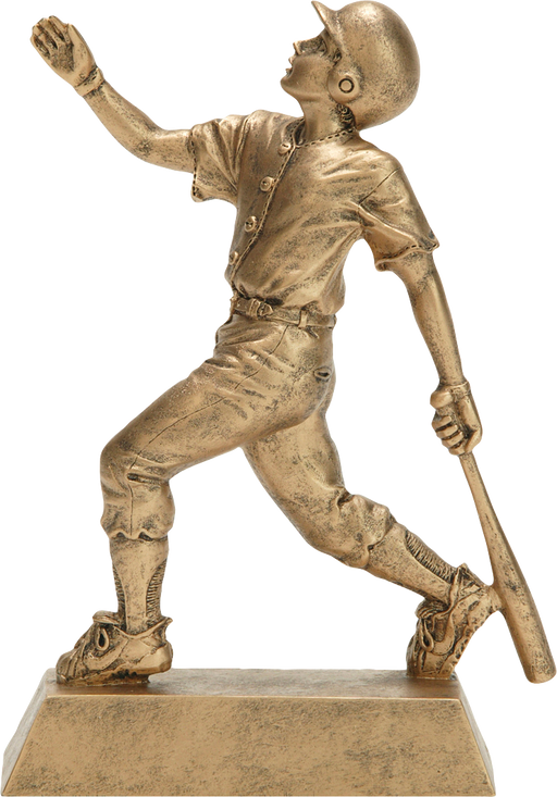 Gold Male Baseball Figure