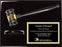 Black Piano Finish Gavel Plaque