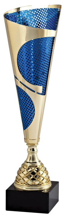 Gold/ Blue Metal Mesh Trophy Cup (3 Sizes)
