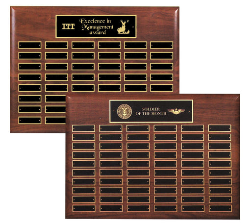 "15""X21"" Solid Walnut Perpetual Horizontal (48 or 60)"