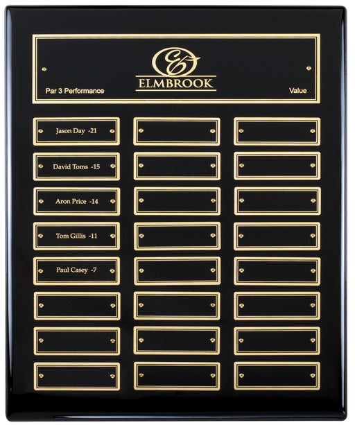 Black Finish Perpetual Vertical 24 Plate (Pick Gold or Silver Plates)