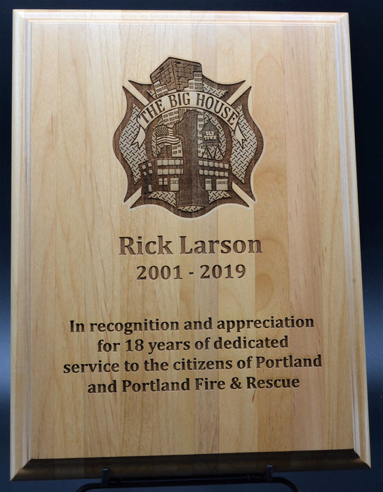 Firefighter Big House Plaque.