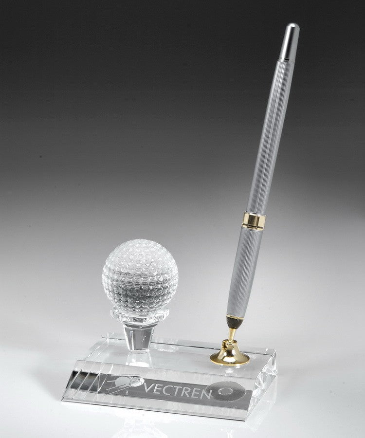 Crystal Golf Ball Pen Set