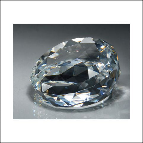 Crystal Faceted Diamond Paperweight